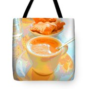 Breakfast At Cafe Du Monde Tote Bag