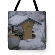 Breakfast At The Feeder Tote Bag
