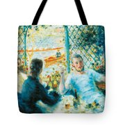 Breakfast By The River Tote Bag