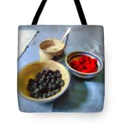 Breakfast In Red White And Blue Tote Bag