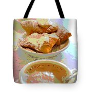 Breakfast Of Champions At Cafe Du Monde Tote Bag