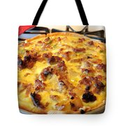 Breakfast Quiche Tote Bag by Kay Novy