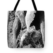 Breakfast With Mother Black And White Tote Bag