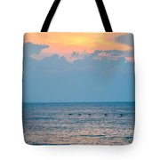 Breaking Blue  Tote Bag