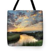 Breaking Dawn Along The Bayou Tote Bag