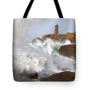 Breaking Of Waves Tote Bag