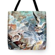 Breaking The Ice On Lake Constance Tote Bag