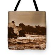Breaking Waves-big Island Hawaii Tote Bag