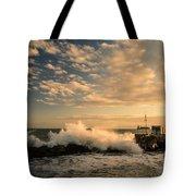 Breaking Waves Iv Tote Bag
