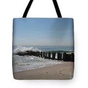 Breakwater At New Jersey Shore Tote Bag