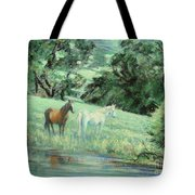 Breathing In Strength Unsaddled Tote Bag