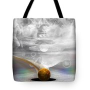 Breathing Life Into A Planet Tote Bag by Peter R Nicholls