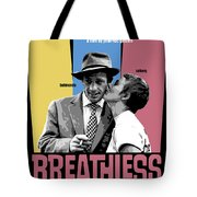 Breathless Movie Poster Tote Bag