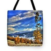 Breckenridge Skies Tote Bag by Scott Mahon