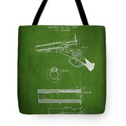 Breech Loading Shotgun Patent Drawing From 1879 - Green Tote Bag