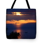 Brela Sunset Croatia Tote Bag