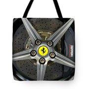 Brembo Carbon Ceramic Brake On A Ferrari F12 Berlinetta Tote Bag