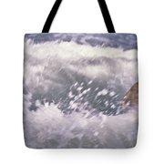 Brian Swimming In The Sea Tote Bag