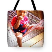 Bribri Indian Child In A Hammock Tote Bag