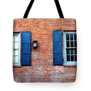 Brick And Shutters Tote Bag