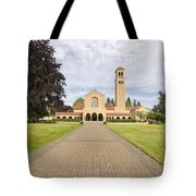 Brick Path To Mt Angel Abbey Church Entrance Tote Bag