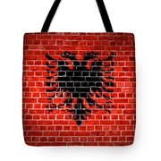 Brick Wall Albania Tote Bag