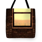 Brick Window Sea View Tote Bag