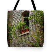 Brick With Greenery Tote Bag