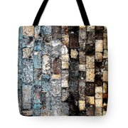 Bricks Of Turquoise And Gold Tote Bag
