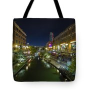 Bricktown Canal Vertical Tote Bag