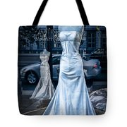 Bridal Dress Window Display In Ottawa Ontario Tote Bag