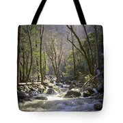 Bridalveil Falls Feeds A Marvelous Stream Tote Bag