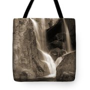 Bridalveil Falls In Yosemite Sepia Version Tote Bag