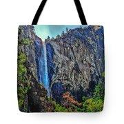 Bridalveil Falls In Yosemite Valley Tote Bag