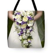 Bride And Wedding Bouquet Tote Bag