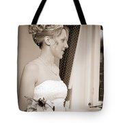Bride Awaits Her Groom Tote Bag