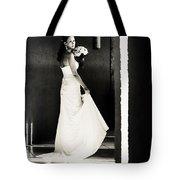 Bride I. Black And White Tote Bag
