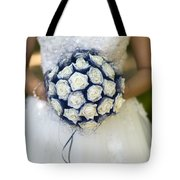 Bride With Flowers Tote Bag