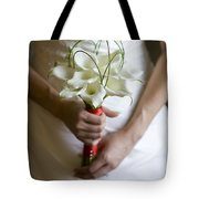 Bride With Lily Bouquet Tote Bag