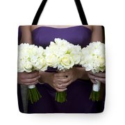 Bridesmaids With Flowers Tote Bag