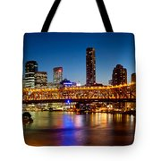 Bridge Across A River, Story Bridge Tote Bag