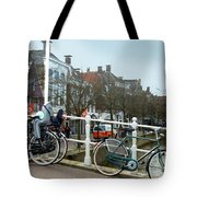 Bridge Across Canal - Amsterdam Tote Bag
