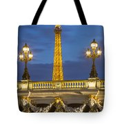 Bridge And Eiffel Tote Bag