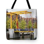 Bridge And Houses On Entrepotdok In Amsterdam Tote Bag