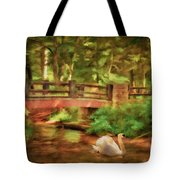 Bridge And Swan Tote Bag