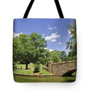 Bridge At A Park In The Summer Tote Bag