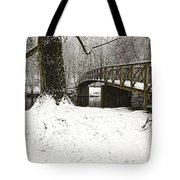 Bridge At Old Mine Park Tote Bag