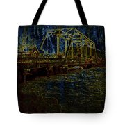 Bridge Crossing C. 1885 Glowing Edges Tote Bag