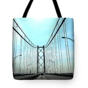Bridge Crossing Tote Bag