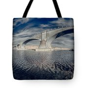 Bridge Curvature In Color Tote Bag